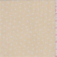 Apricot/Blue Ditsy Print Georgette