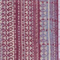 Garnet Multi Tapestry Print Silk Crepe de Chine