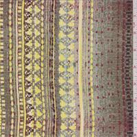 Jade Multi Tapestry Print Silk Crepe de Chine