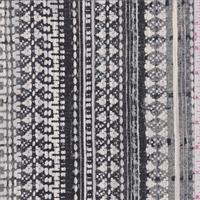Black Multi Tapestry Print Silk Crepe de Chine