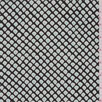 Black Cube Print Silk Crepe de Chine