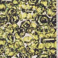 Lemon Multi Gem Print Silk Crepe de Chine