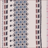 Ivory Southwest Stripe Silk Crepe de Chine