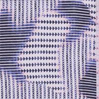 Prism Pink/White Print Silk Crepe de Chine