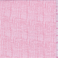 *3 3/8 YD PC--Dusty Pink/White Block Print Voile