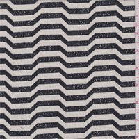Cream/Black Modern Wave Sweater Knit