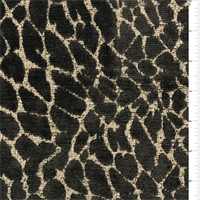 *1 YD PC--Deep Brown Cheetah Chenille Upholstery Fabric