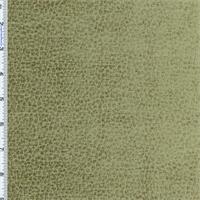 *1 YD PC--Swamp Green Komodo Animal Skin Texture Chenille Velvet Upholstery Fabric
