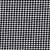 *3 1/4 YD PC--Black/White Check Gingham Seersucker