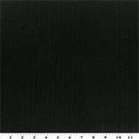 Black Wool Ribbed Coating