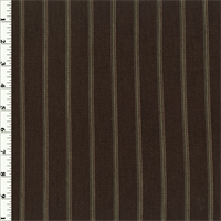 Brown Striped Pique Knit