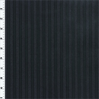 Black/Blue Wool Stripe Twill Suiting