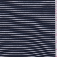 Dark Navy/White Pinstripe Rib Knit