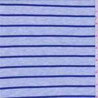 Heather Blue Stripe Jersey Knit