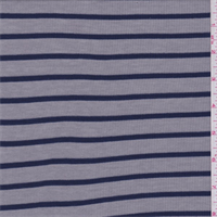 Dove Grey/Blue Stripe Ribbed Jersey Knit