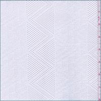 White Geometric Stripe Stretch Mesh