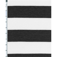 *3 YD PC--Black/White Stripe Jersey Knit