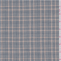 *4 1/4 YD PC--Peacock Blue Plaid Suiting
