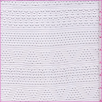 White Stripe Stretch Lace