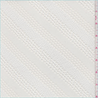 Ivory Diagonal Stripe Lace
