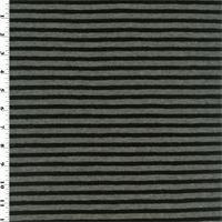 Black/Grey Stripped Wool Jersey