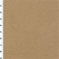 Coppery Beige Wool Jersey