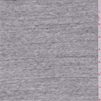 Heather Grey Cotton Sweater Knit