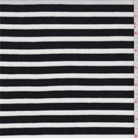 Ebony/White Stripe Rayon Jersey Knit