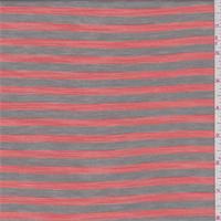 Taupe/Tangelo Stripe Rayon Jersey Knit