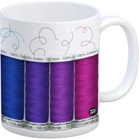 Quilt Happy Spools Mug 11oz-Quilt
