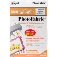 Crafter's Images Photofabric 8.5X11 5/Pkg-100% Cotton Twill