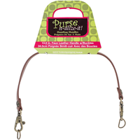 Faux Leather Handbag Handle 13-1/2-Rose Buckle