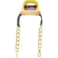 Faux Leather & Chain Handbag Handle 20-Black