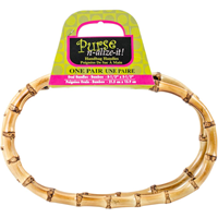 Bamboo Handbag Handles 8-1/2 Oval 2/Pkg-Natural