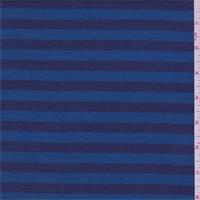 Blue/Navy Stripe Polyester Canvas