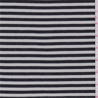 Heather Black/Ecru Stripe Jersey Knit