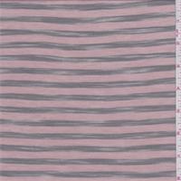 Powder Pink/Moss Stripe T-Shirt Knit