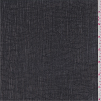 Black Polyester Crinkled Chiffon