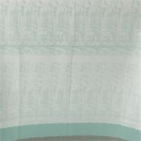 *3 PANELS--white/Green Silk Georgette