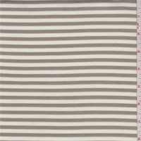 Taupe/Ivory Stripe Double Knit