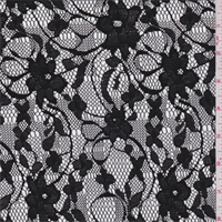 Black Aster Floral Lace