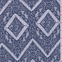 Oxford Blue Diamond Lace