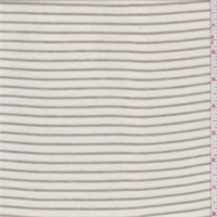 Ivory/Dark Tan Stripe Rib Jersey Knit