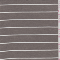 Dark Taupe/White Stripe Rib Jersey Knit