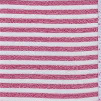 Jewel Red/Chalk Stripe Sweater Knit