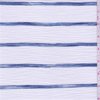 White/Denim Blue Stripe T-Shirt Knit