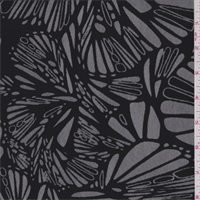 Black Modern Floral Mesh