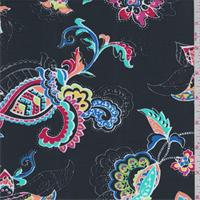 *2 YD PC--Black Multi Stylized Floral Swimwear