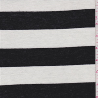 Black/White Stripe Sweater Knit