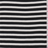 Black/White Stripe Tencel Sweater Knit